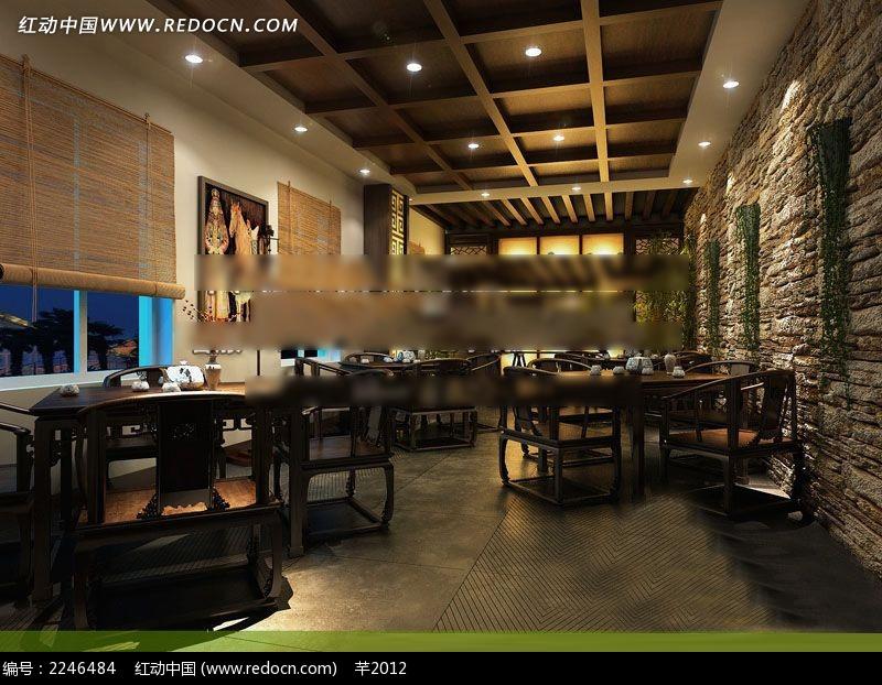 中式意境餐厅装修设计图图片