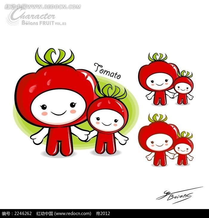 q版西红柿卡通手绘