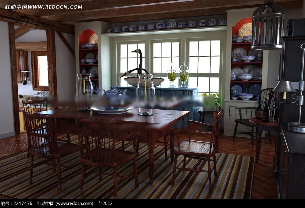 简中式餐厅厨房效果图片图片