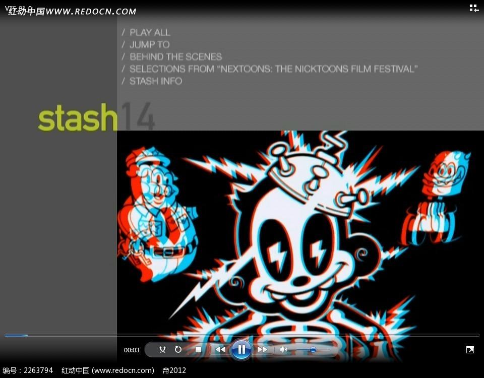 三维视频卡通人物视频