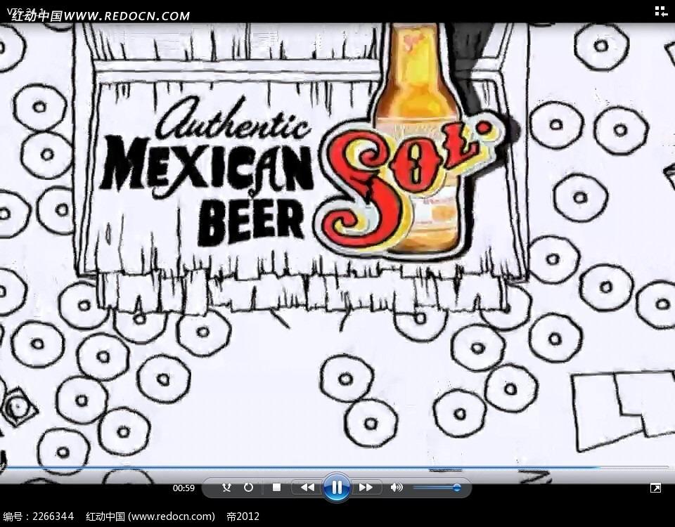 手绘啤酒广告视频