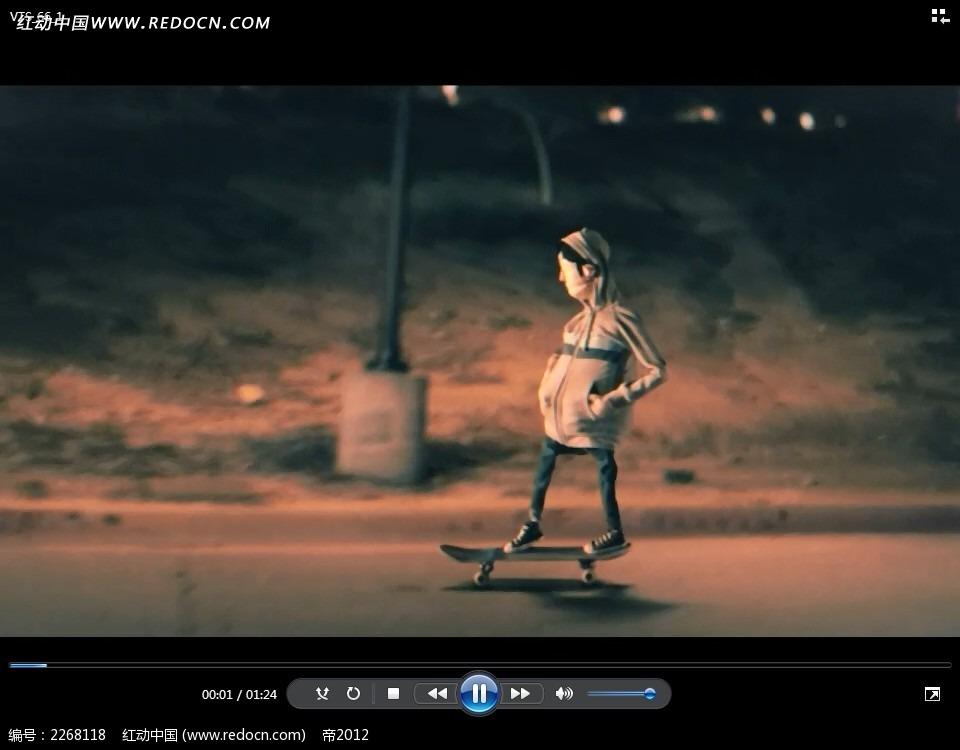 滑板少年动画视频