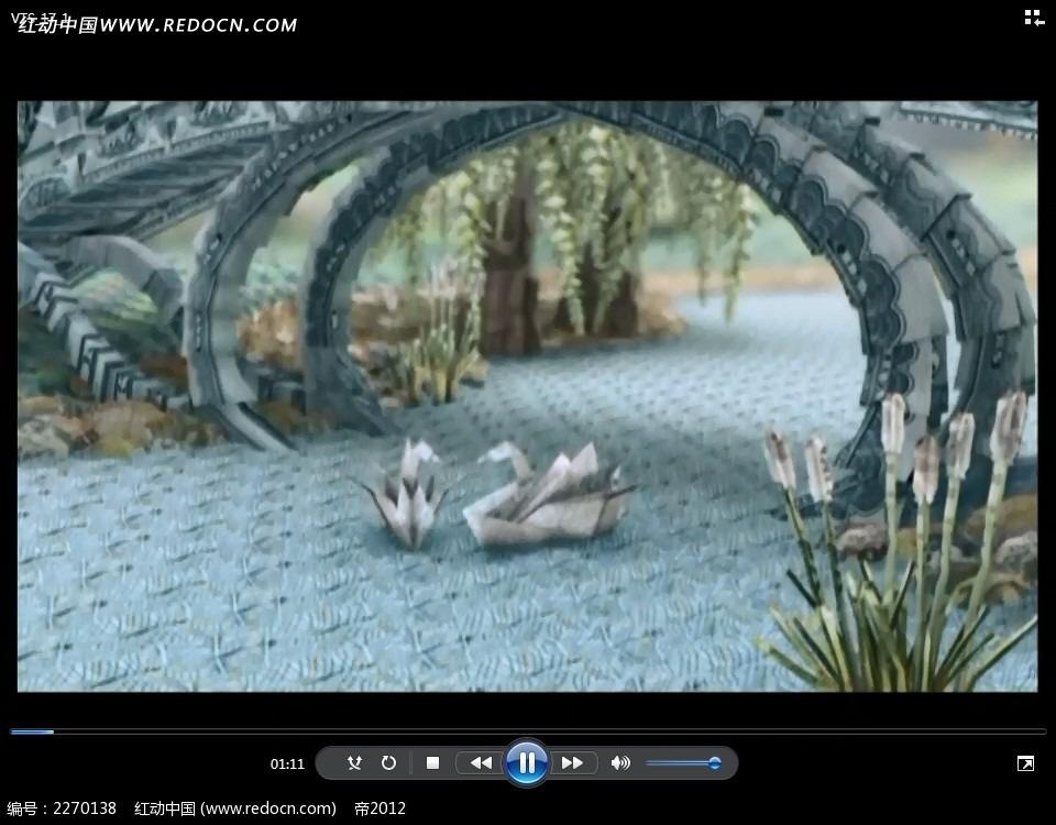 折纸天鹅拱桥视频图片