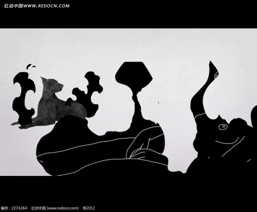 影子与实物创意手绘
