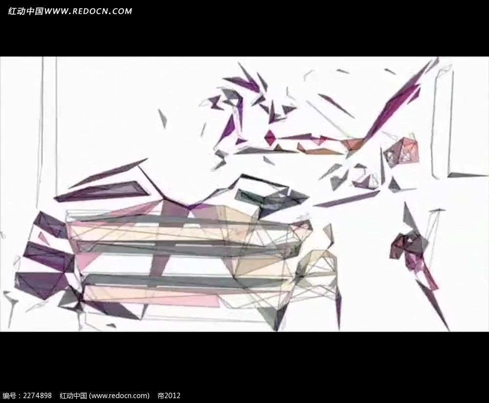 手绘抽象人物画动画视频