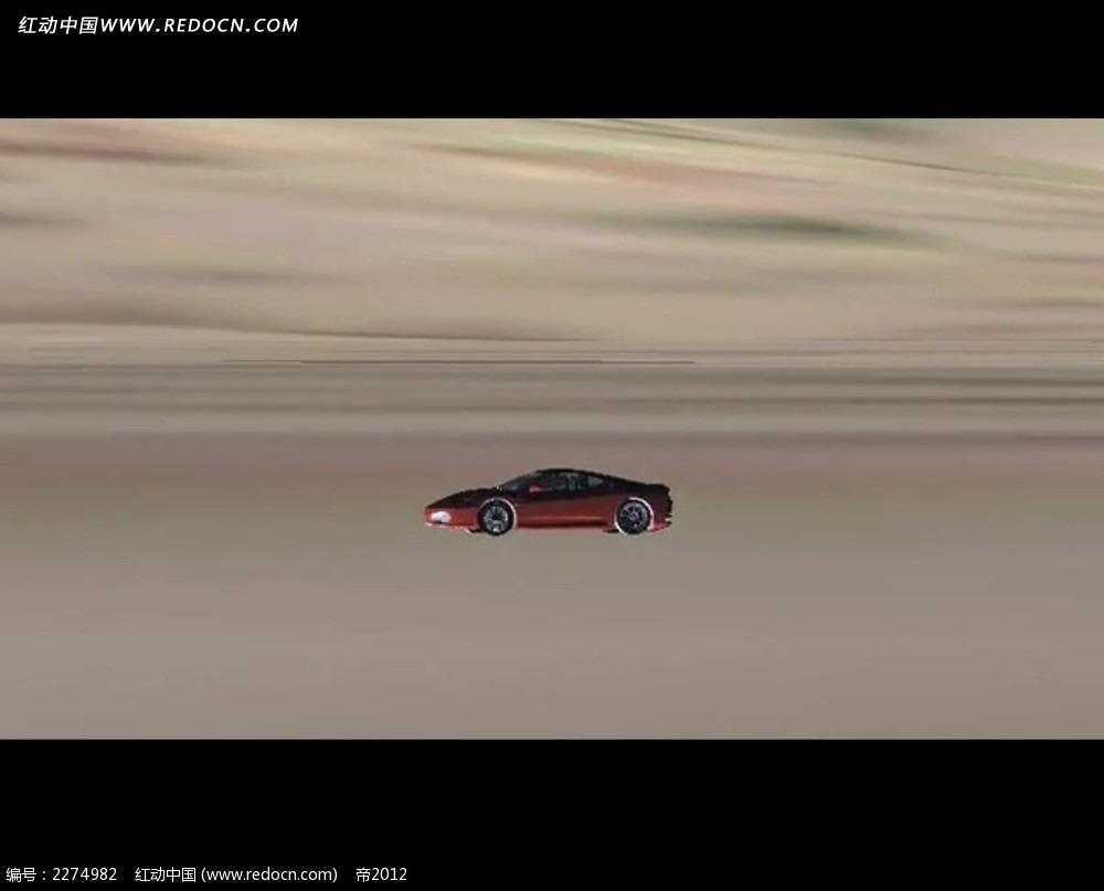 红色汽车广告动画视频