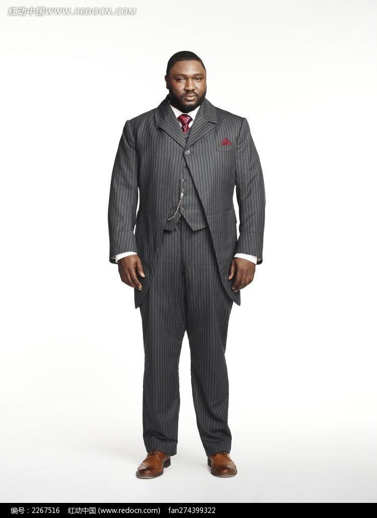穿西装的黑胖外国男人图片-人物图片素材|图片库