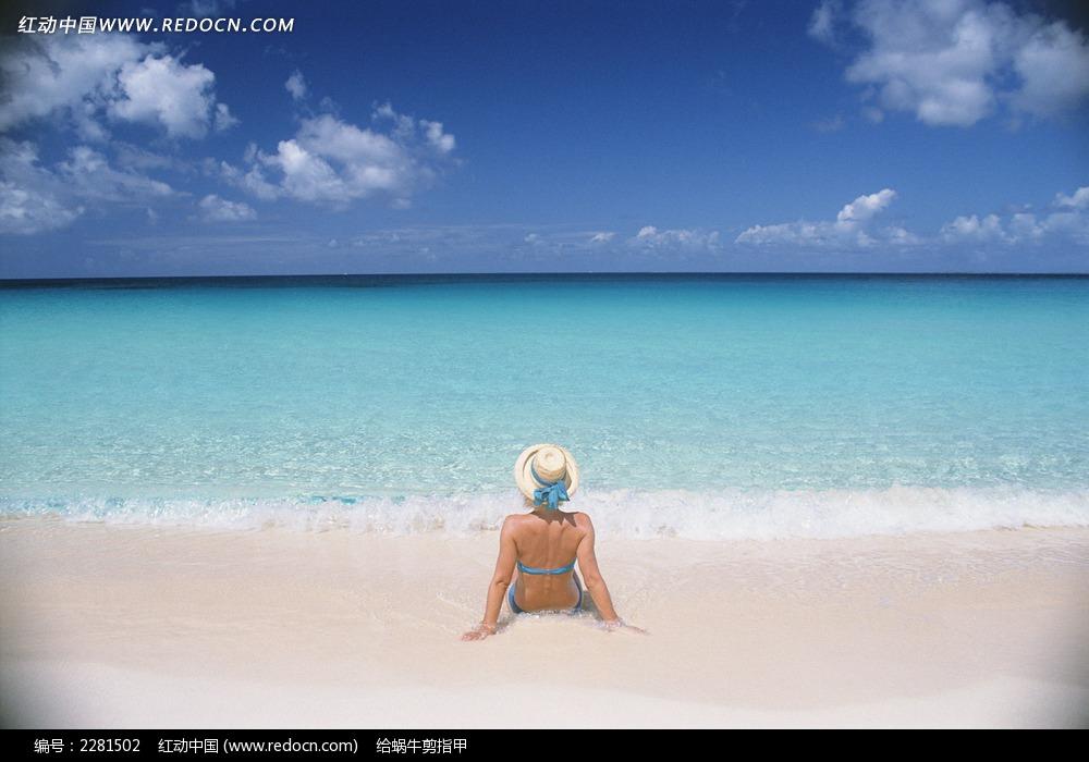 沙滩比基尼美女图片 风景图片|图片库|图库下载