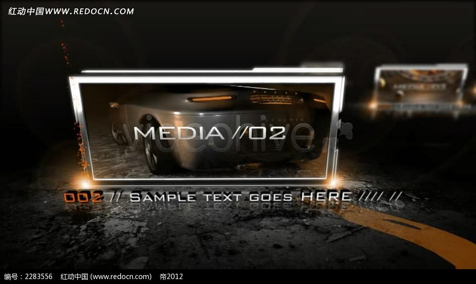 动态金属边框屏幕视频图片