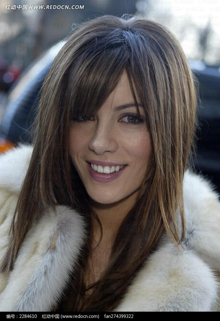 微笑的外国美女明星图片