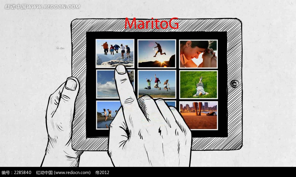 手绘平板电脑展示视频