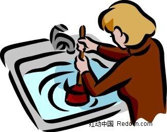 通下水道的女人漫画
