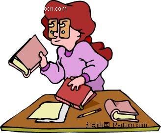 手拿拖鞋的女子卡通手绘_卡通形象_红动手机版