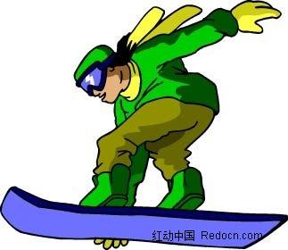 滑板男孩卡通手绘