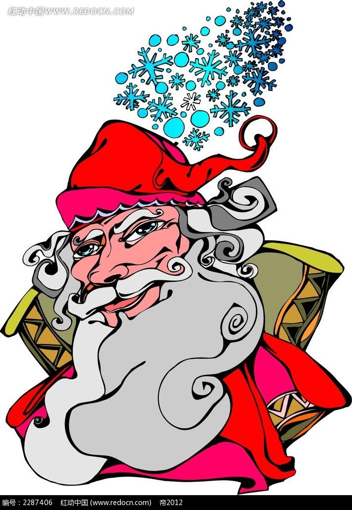 圣诞老人卡通手绘