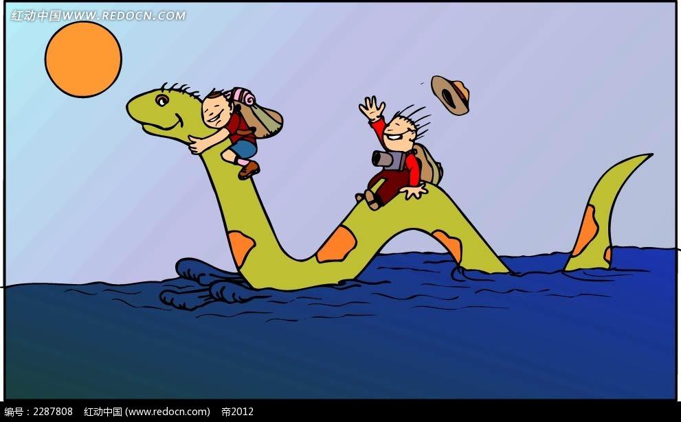 小孩和母亲卡通手绘_卡通形象_红动手机版