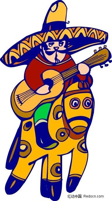 动漫男生弹吉他头像