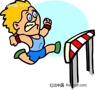 免费素材 矢量素材 矢量人物 卡通形象 跳高的男孩卡通手绘  请您分享