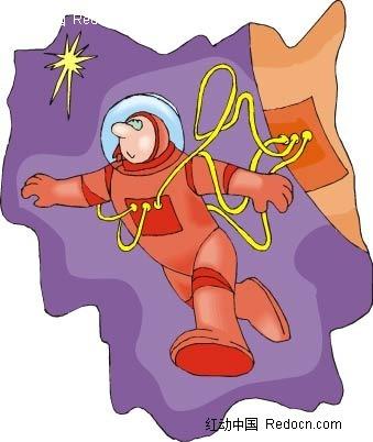 宇航员卡通手绘