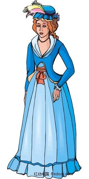 古典贵妇人物插图