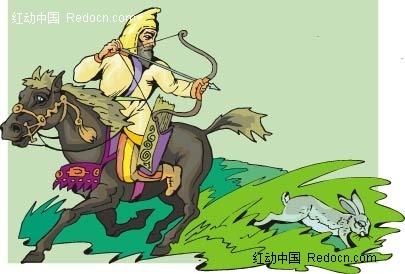 古代狩猎插图图片