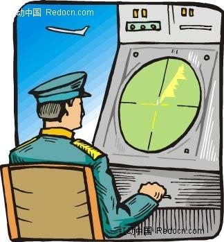 飞行员卡通手绘
