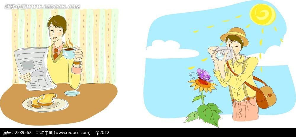 卡通下午茶摄影插图