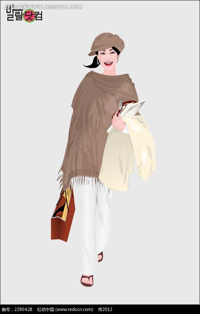 时尚女性人物插画