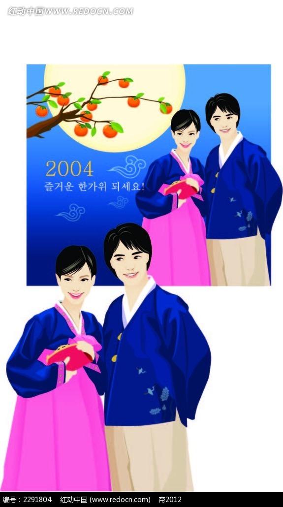 韩国服饰情侣卡通手绘