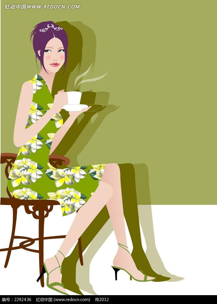 喝下午茶都市女郎插图