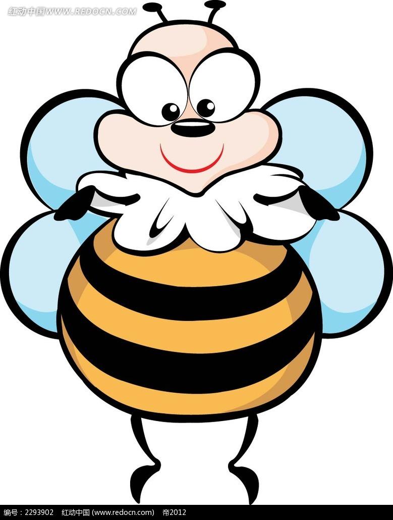拟人小蜜蜂人物插画