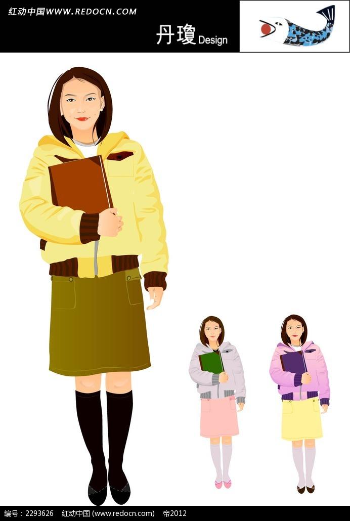 冬季少女人物插图