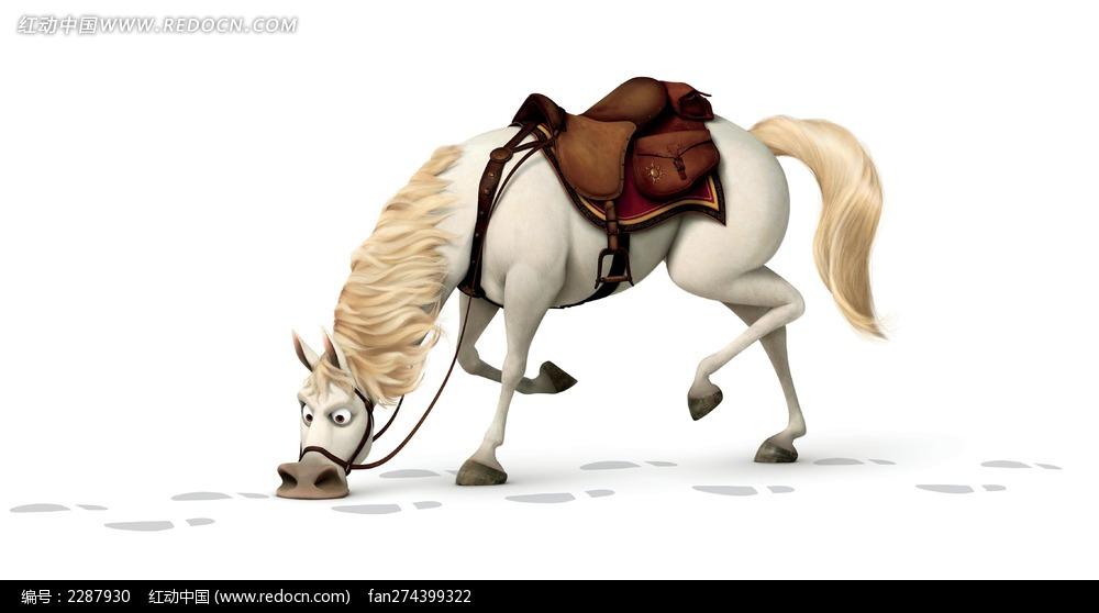 白马 马 牲畜 动画形象 电影角色人物 动物绘画 动物图片 生物世界