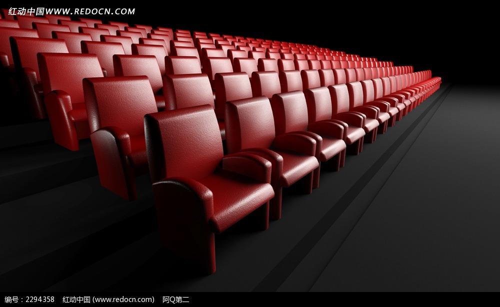影院红色椅子图片