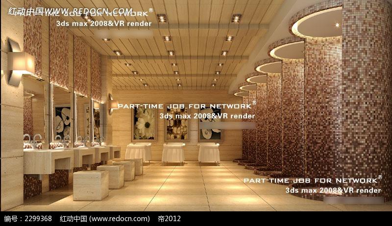 卫生间效果图 婚礼现场卫生间 酒店卫生间 高贵 典雅 欧式 室内设计