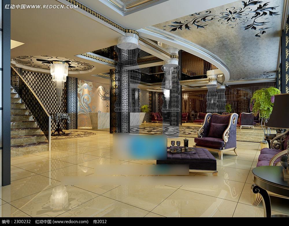 酒店大厅装修设计效果图