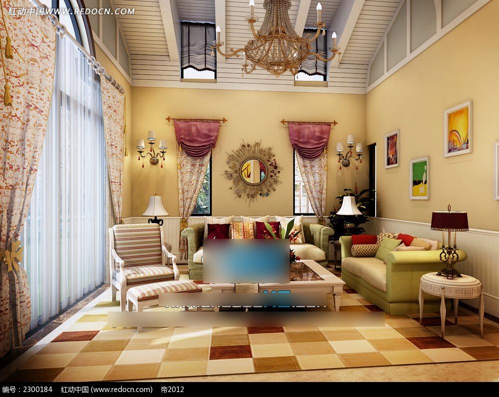 温馨北欧风格客厅装修效果图图片
