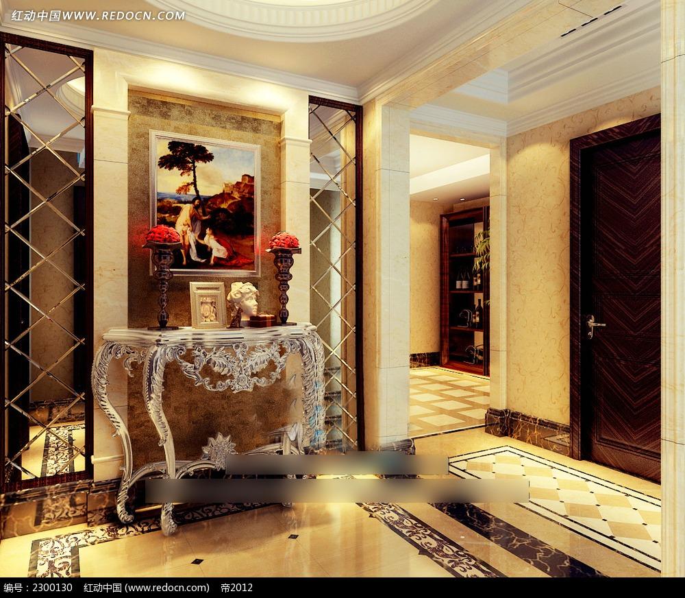 复古欧式家居装饰品效果图图片