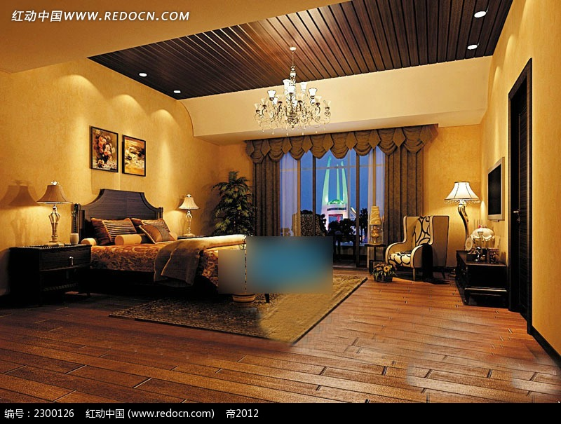 古典欧式主人房装修图片