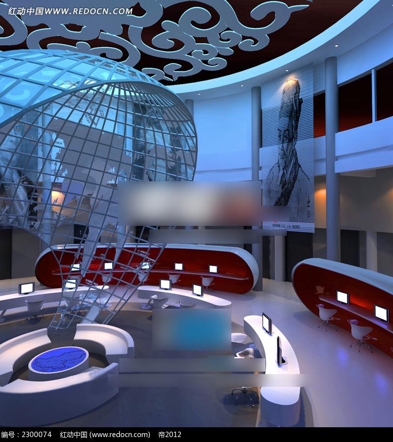 免费素材 3d素材 3d模型 室内设计 演播室室内效果图  请您分享: 素材
