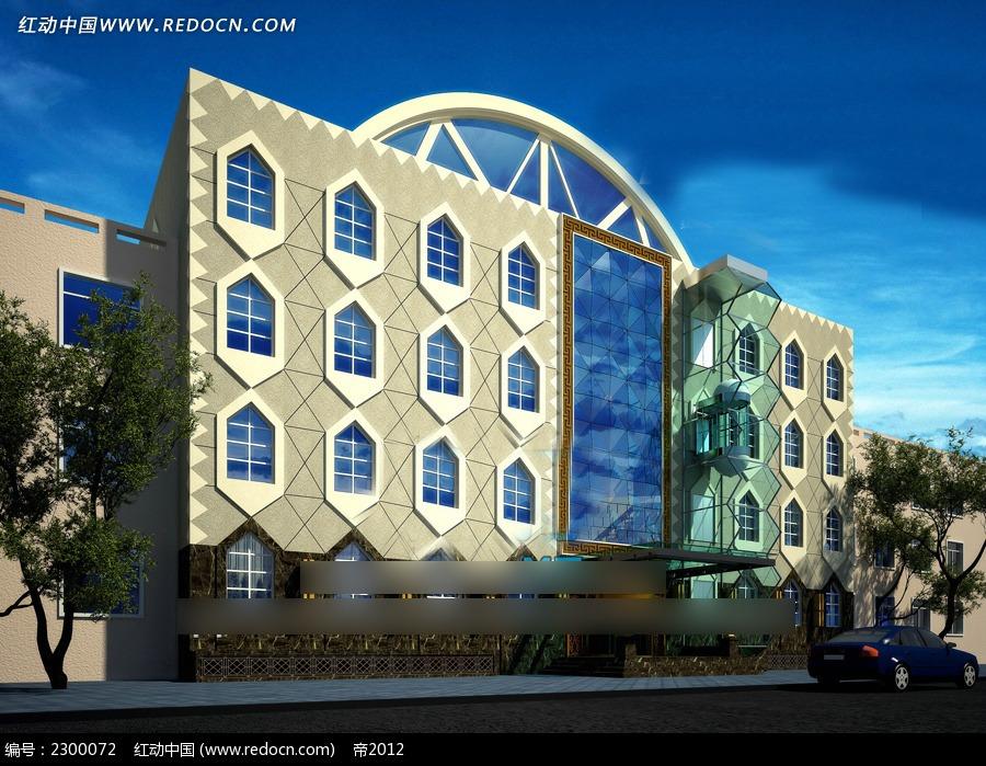欧式风格外观建筑效果图