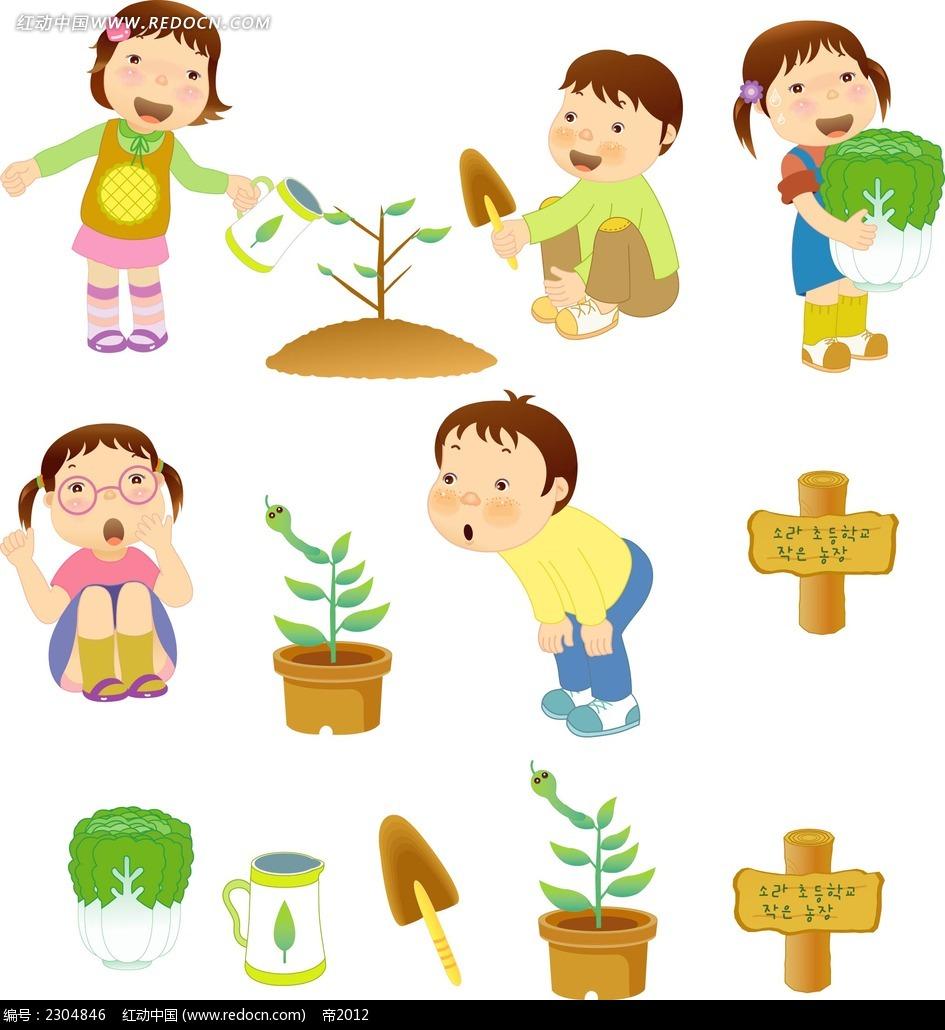 关于种树的手绘小报