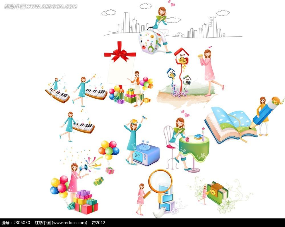 弹琴的小女孩韩国漫画漫画v漫画立意作文图片