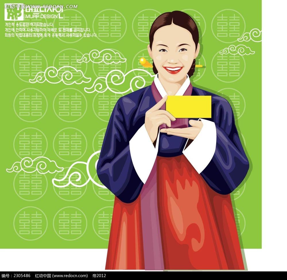 韩国服饰女子卡通手绘