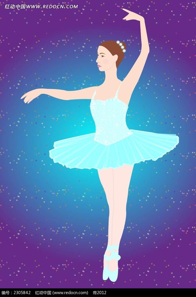 芭蕾舞的女孩子韩国矢量人物插画