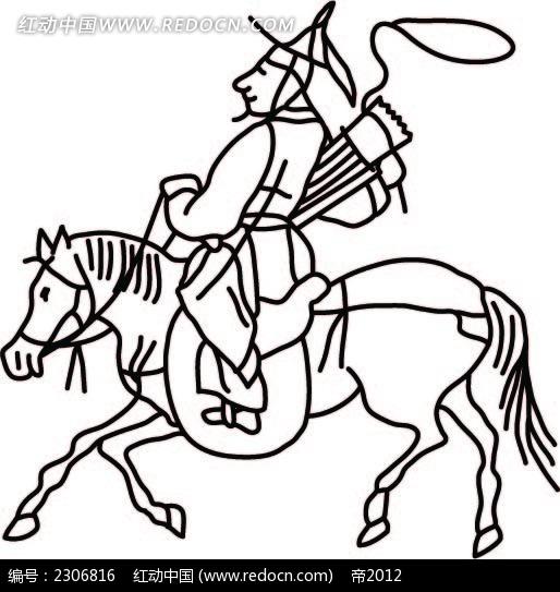 狩猎的古代小人时尚矢量人物漫画AI素材免费下载 编号2306816 红动网