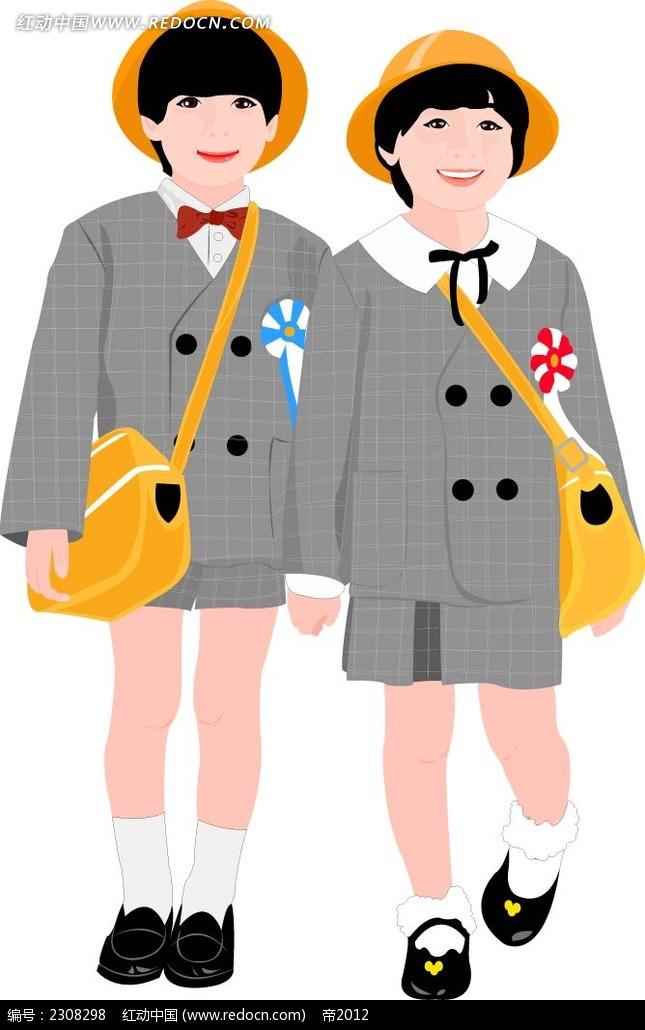 小学生反思穿小学科学开心校服图片