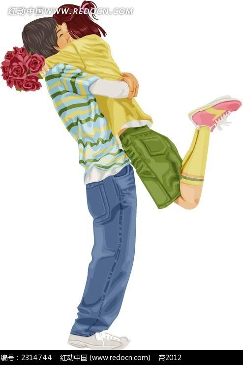 情侣人物插画