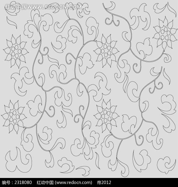 古典植物花卉线稿图