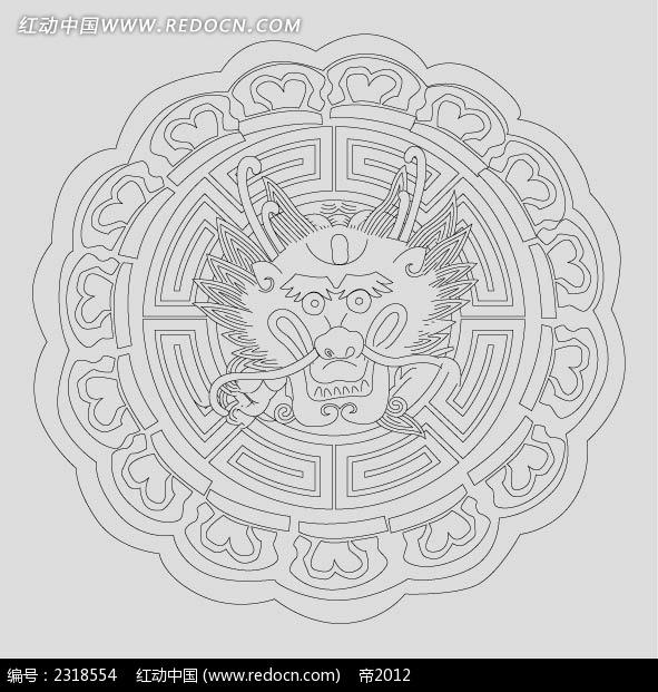 免费素材 矢量素材 艺术文化 传统图案 圆形龙头花纹  请您分享: 素材
